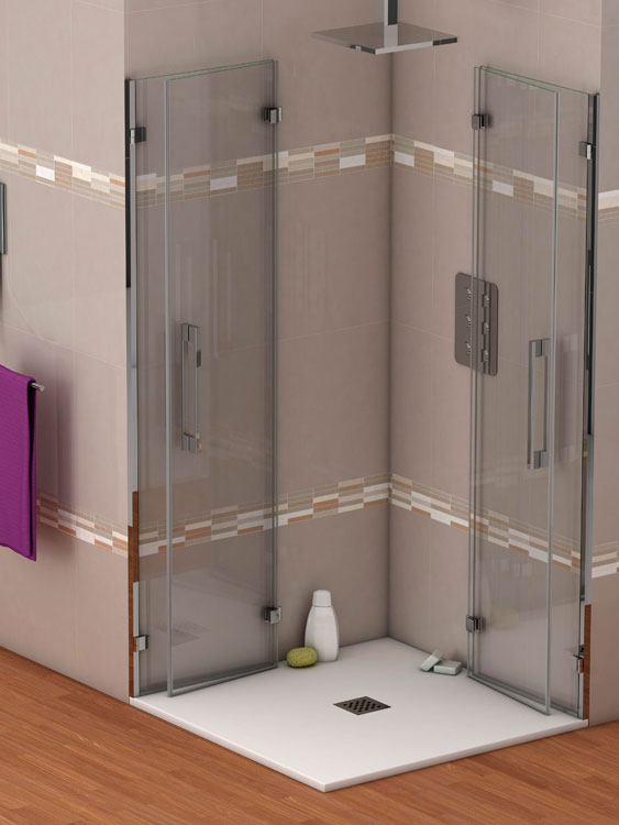 Mamparas de ducha cristal duchas ecol gicas precios for Platos de bano precios